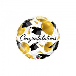 Foil μπαλόνι Congratulations Gold Balloons  45 εκ