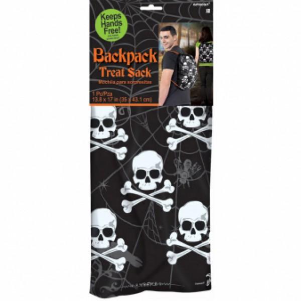 Halloween σακίδιο πλάτης μαύρο με νεκροκεφαλές