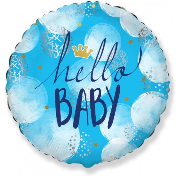 Μπαλόνι Φοιλ 18  Hello Baby Boy  - 46 εκ