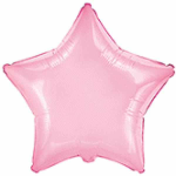 Μπαλόνι Φοιλ 18 Αστέρι - Ροζ 46 εκ