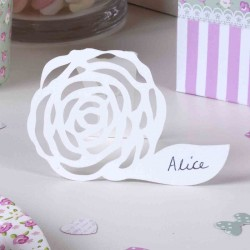 Place Cards frills and sprills σε λευκό σετ των δέκα τεμαχίων