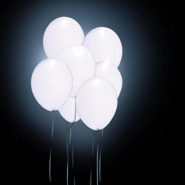 Φωτιζόμενα μπαλόνια led σε λευκό χρώμα σετ 4 τεμαχίων