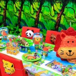 Σετ για πάρτυ 16 ατόμων Ζωάκια της Ζούγκλας Party