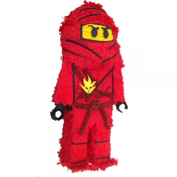 Πινιάτα Χειροποίτητη Τρισδιάστατη Κόκκινος Νίντζα  870961a97f9