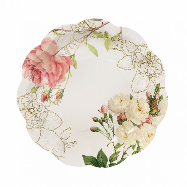Blossom and Brogues-Πιάτα Χάρτινα  S/16 τεμ.